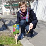 "Nina Chladek-Danklmaieof  GB2/20 marking a possible space for ""Gardening around the corner""  © MA 25"